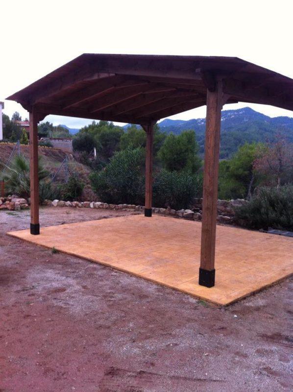 fabricamos pergolas de madera en Tarragona